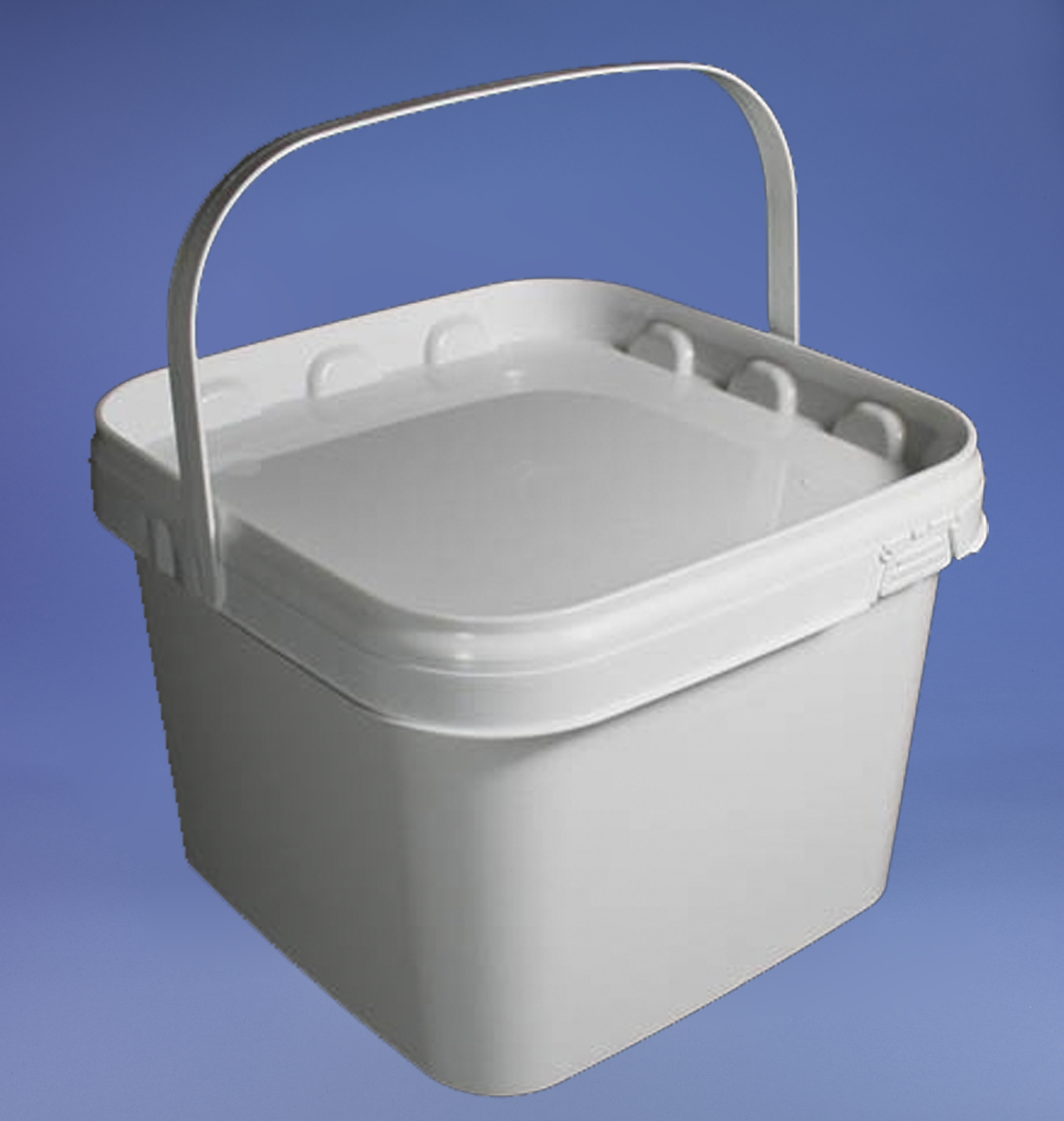 PB35SW - Square white Bucket complete with T/E Lid