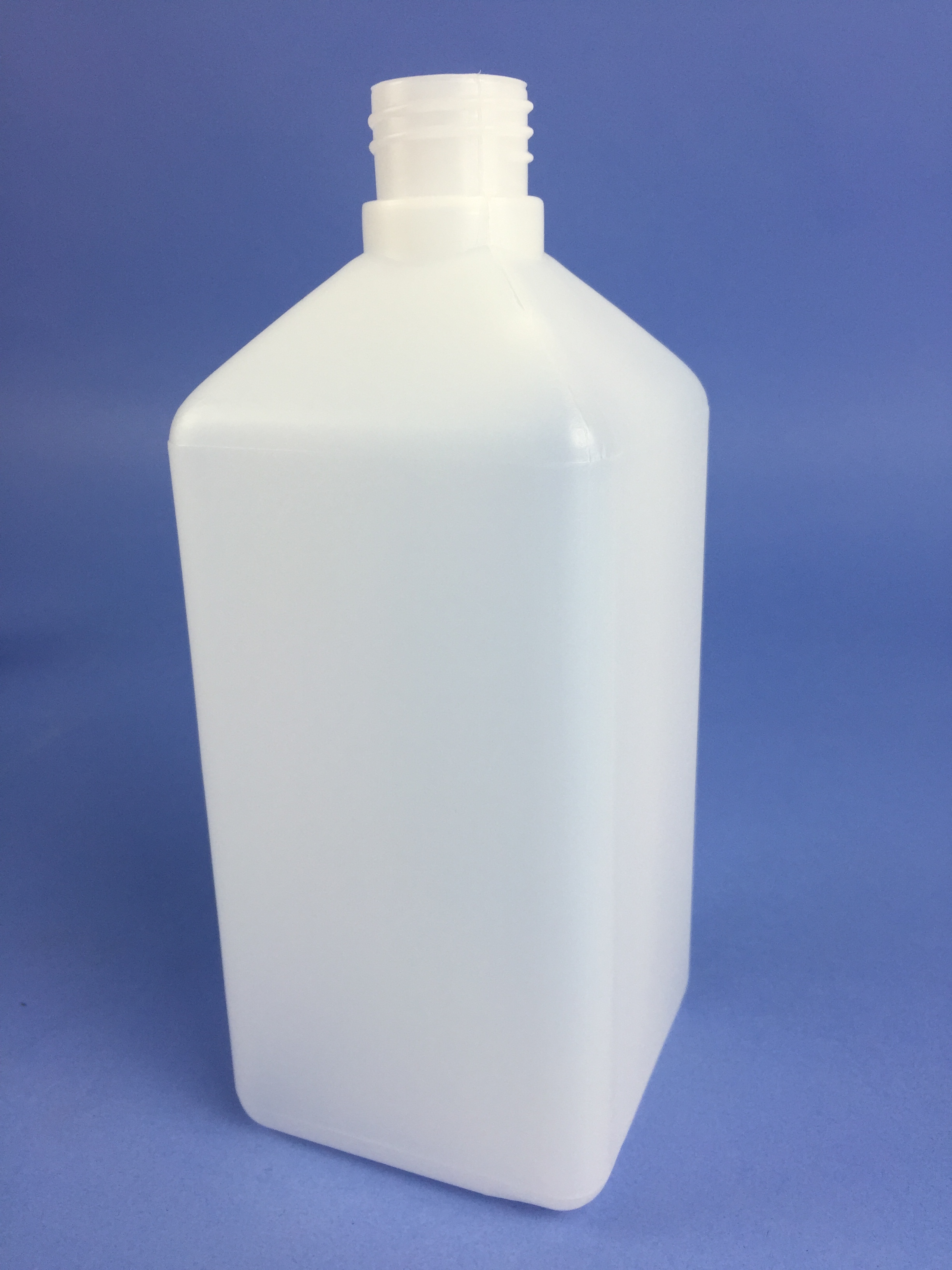 Plastic Bottle 1000ml Clear Square Hdpe Narrow Neck S100s
