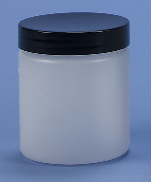 SJ5 - 150ml HDPE Jar complete with Black Lid