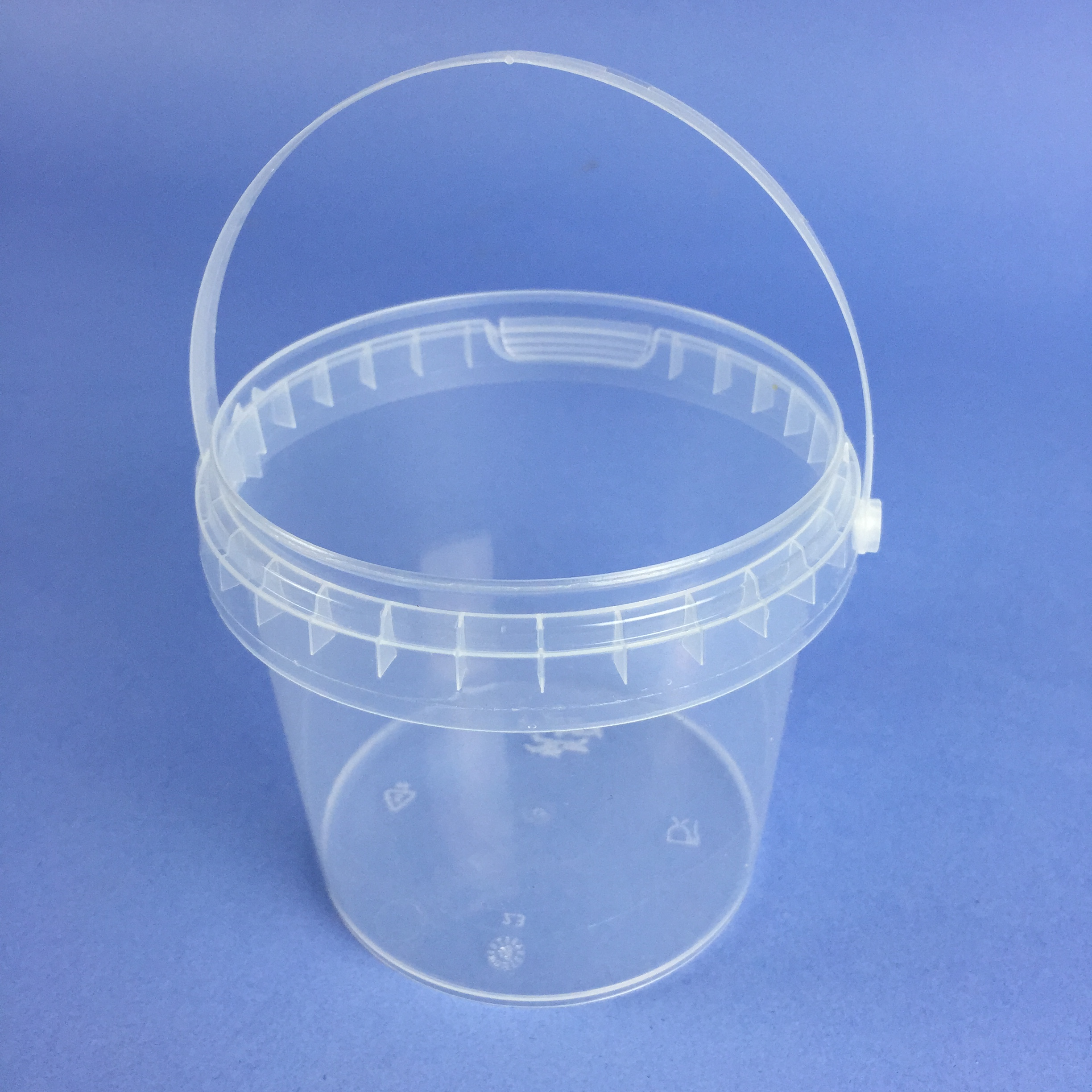 Small Volume Round Clear Tub 365ml complete with Handle - SV365C ...