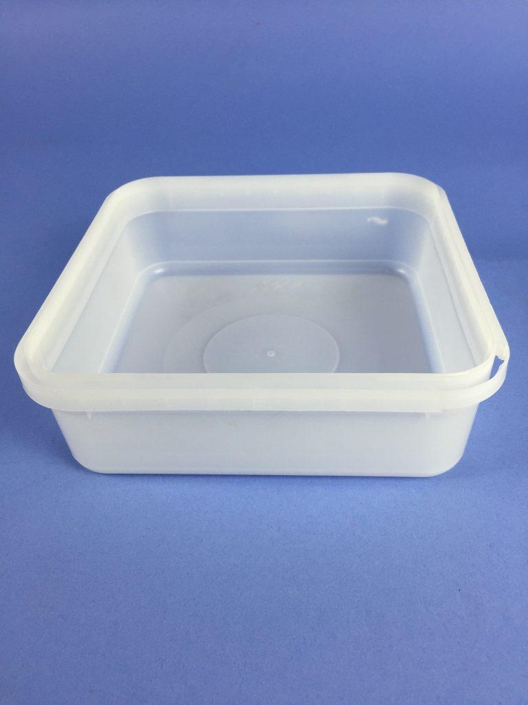 Pc1sqte 1 Litre Square T E Container Bristol Plastics